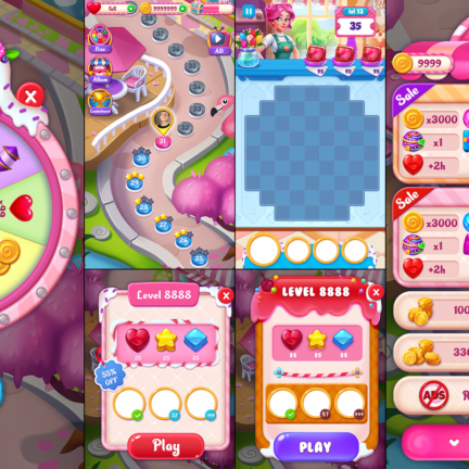 UI UX Game Icon Candy Match3