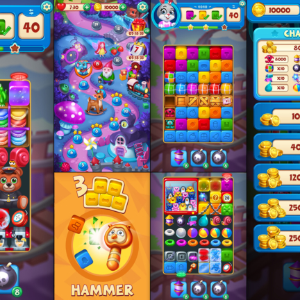 UI UX Game Icon Toy Tap Fever Match-3