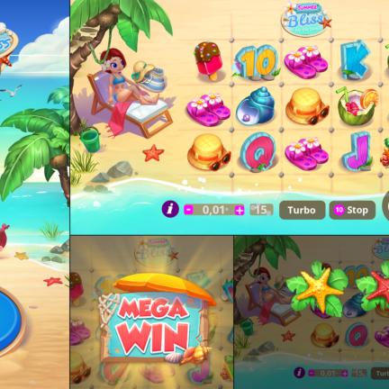 UI UX Slot Icon Summer Bliss Beach