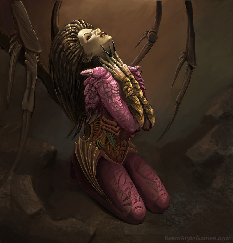 Starcraft 2 Fan Art - Kerrigan Illustration