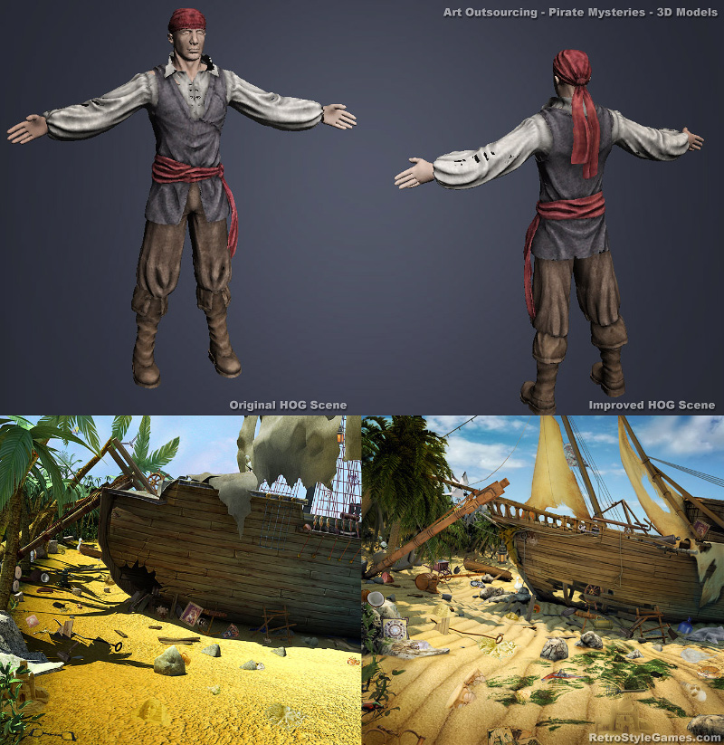 Art outsourcing - hidden object games 3d modeling
