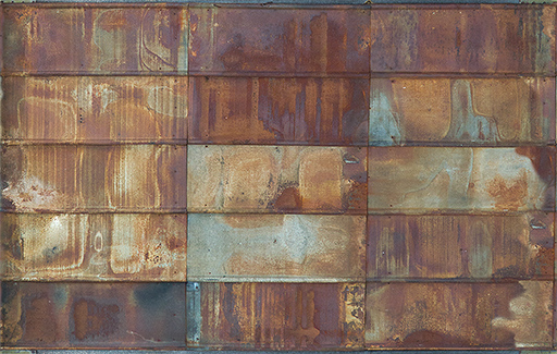 Free Seamless Rusted Segmented Metal Door Texture